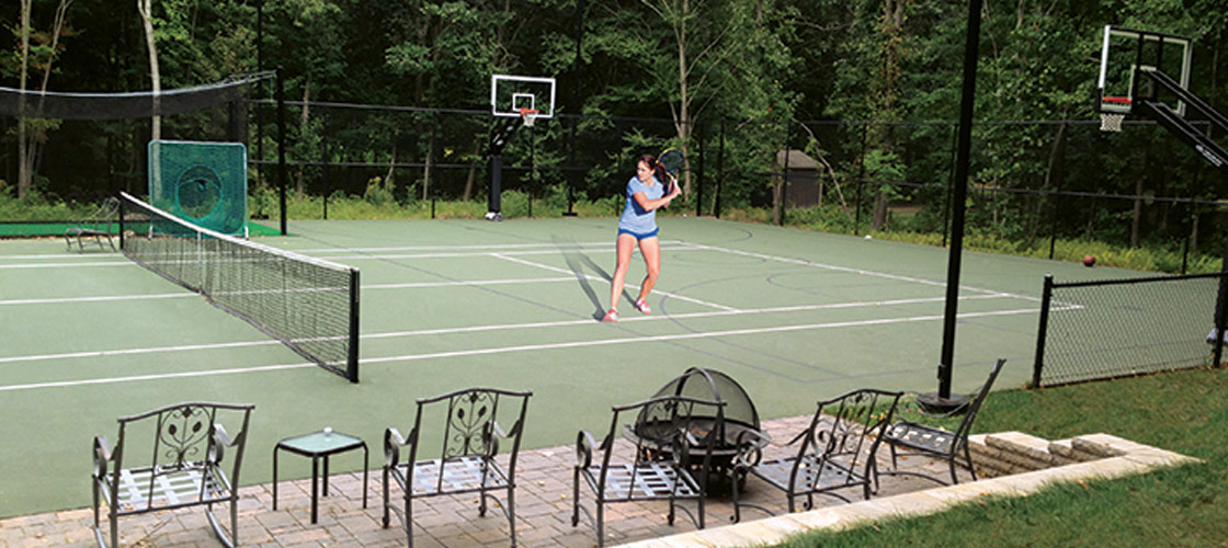 post tensioned sports court
